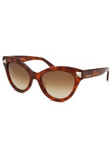 Valentino Women's Cat Eye Havana Sunglasses