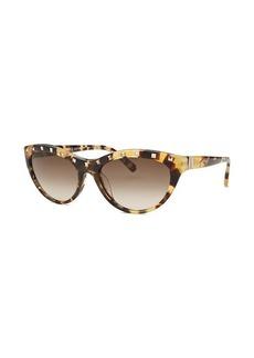 Valentino Women's Cat Eye Tokyo Havana Sunglasses