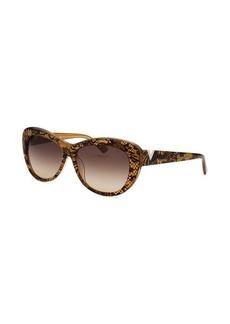 Valentino Women's Cat Eye Yellow Sunglasses
