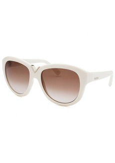 Valentino Women's Ivory Oversized Sunglasses