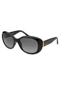 Valentino Women's Oblong Black Sunglasses