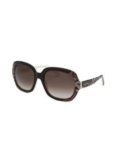 Valentino Women's Oversized Black and White Sunglasses