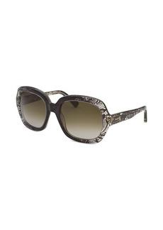 Valentino Women's Oversized Translucent Sunglasses