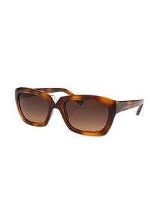 Valentino Women's Rectangle Havana Sunglasses