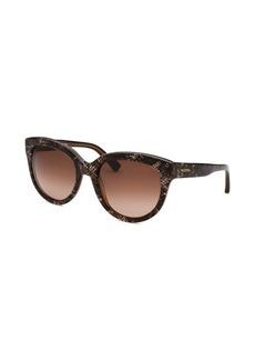 Valentino Women's Round Brown Sunglasses