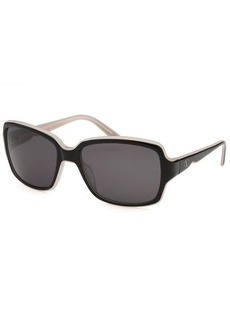 Valentino Women's Square Black and Light Pink Sunglasses