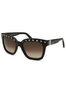 Valentino Women's Square Black Studded Sunglasses