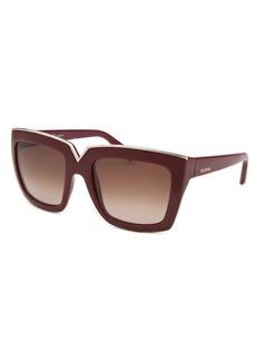 Valentino Women's Square Bordeaux Sunglasses