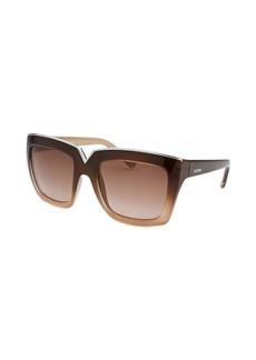 Valentino Women's Square Brown Gradient Sunglasses