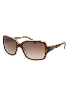 Valentino Women's Square Dark Havana and Rose Sunglasses