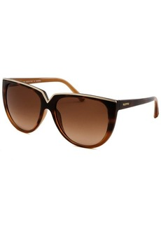 Valentino Women's Square Havana and Gold-Tone Sunglasses