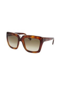 Valentino Women's Square Havana Sunglasses