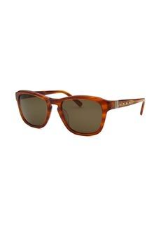 Valentino Women's Square Horn Brown Sunglasses