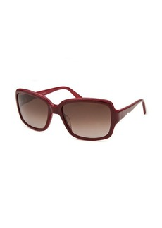 Valentino Women's Square Maroon and Red Sunglasses