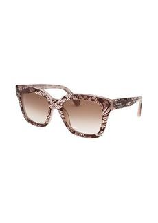 Valentino Women's Square Nude Lace Sunglasses