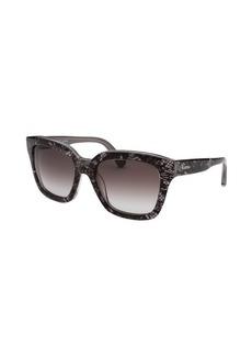Valentino Women's Square Silver Pearl Sunglasses