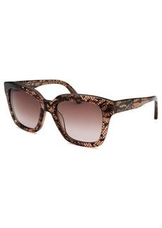 Valentino Women's Square Translucent Brown Sunglasses