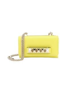 Valentino yellow leather 'Va Va Voom' studded accent shoulder bag