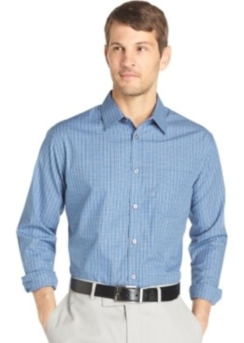 Van heusen van heusen long sleeve plaid shirt casual for Van heusen plaid shirts