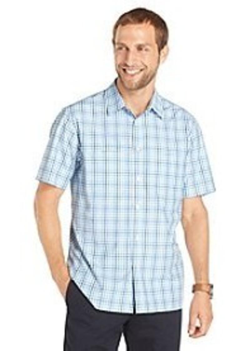 Van heusen van heusen men 39 s short sleeve ombre plaid for Van heusen plaid shirts