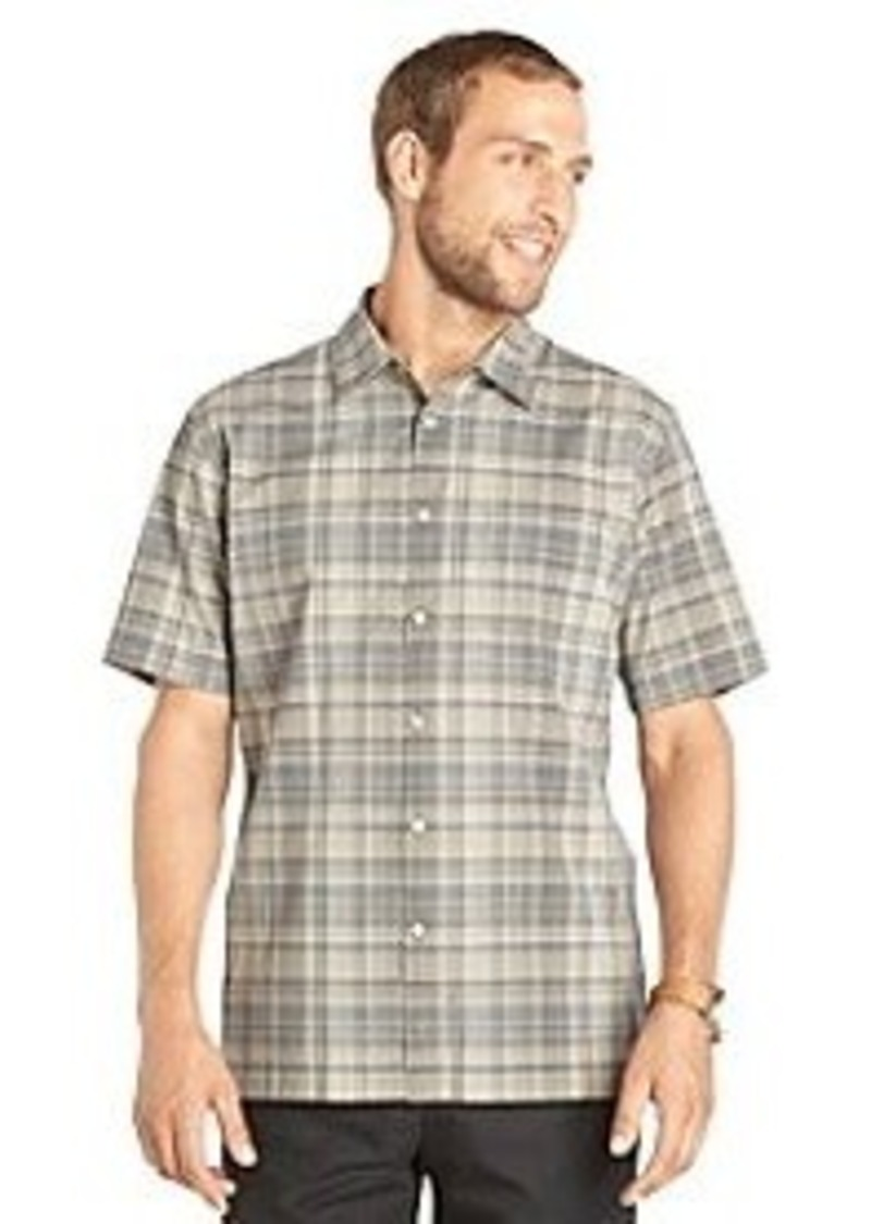 Van heusen van heusen men 39 s short sleeve plaid faux linen for Van heusen plaid shirts