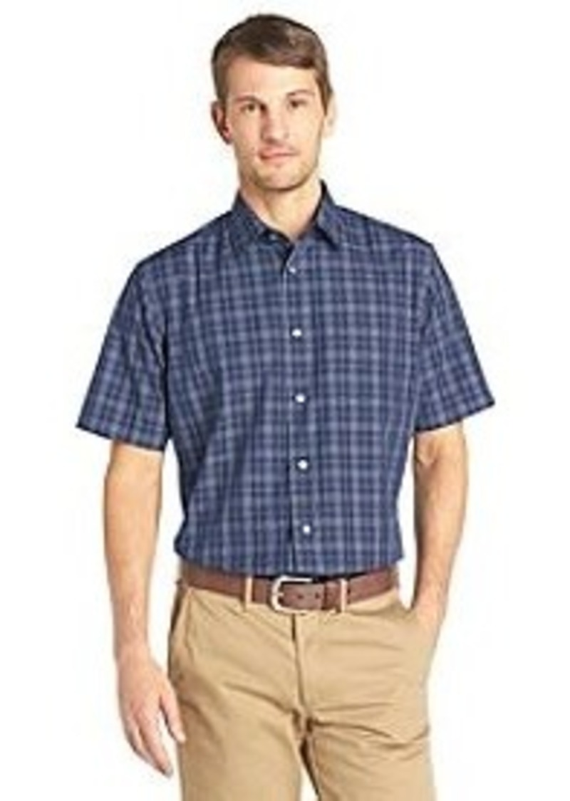 van heusen van heusen men 39 s short sleeve windowpane no