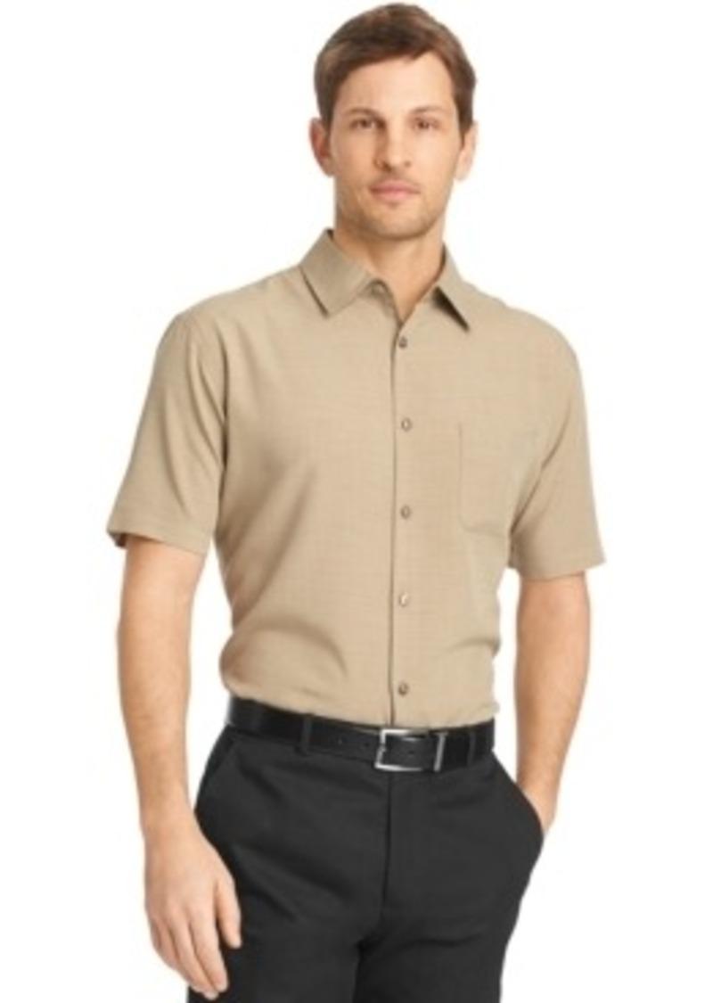 van heusen van heusen short sleeve textured shirt casual