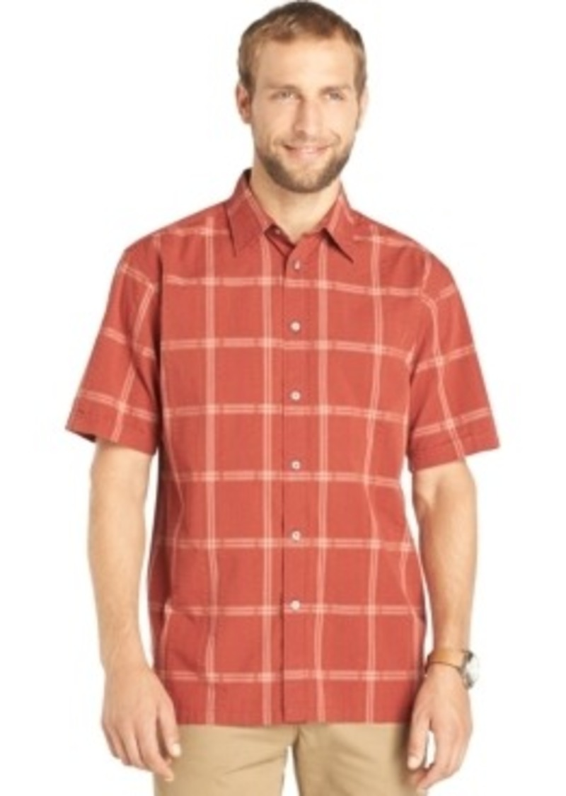 Van heusen van heusen short sleeve plaid shirt casual for Van heusen plaid shirts
