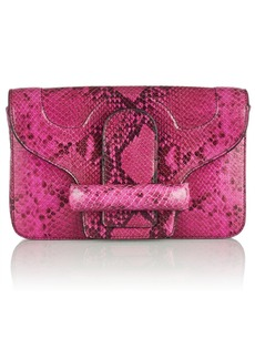 Vanessa Bruno Catherine snake-effect leather clutch