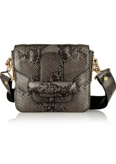 Vanessa Bruno Catherine snake-effect leather shoulder bag