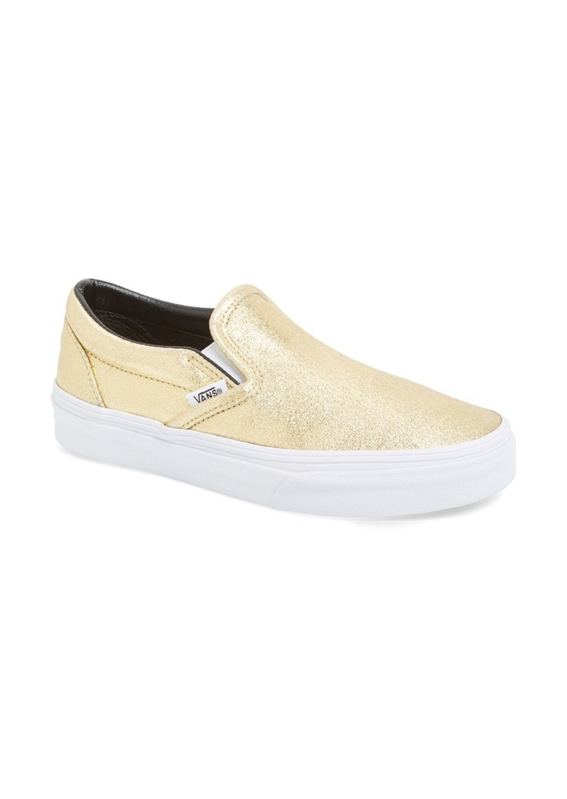 vans vans metallic leather slip on sneaker shoes