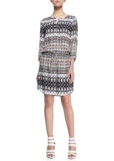 Velvet Bengal Printed Drawstring Dress