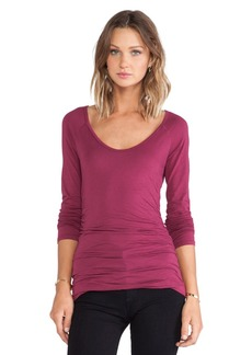 Velvet by Graham & Spencer Amora Gauzy Whisper Top in Wine