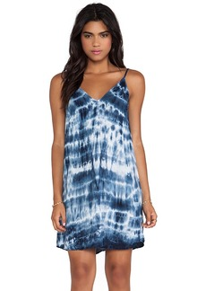 Velvet by Graham & Spencer Anatasi Tie Dye Rayon Voile Dress in Blue