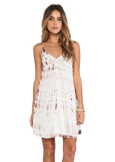 Velvet by Graham & Spencer Anatasi Tie Dye Rayon Voile Dress in White