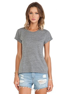 Velvet by Graham & Spencer Ashlyn Heather Grey Knit Short Sleeve Top in Gray