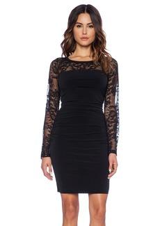 Velvet by Graham & Spencer Avena Stretch Jersey with Lace Dress