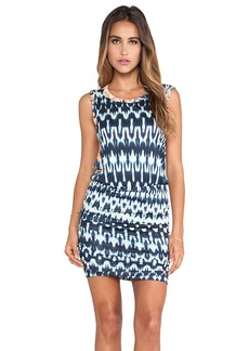Velvet by Graham & Spencer Brianna Summer Ikat Dress in Navy