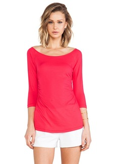 Velvet by Graham & Spencer Cara Whisper Classic Top in Red