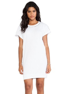Velvet by Graham & Spencer Cia French Terry Slub Dress in White