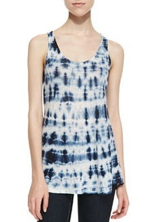 Velvet by Graham & Spencer City Tie Dye Linen Top, Gray