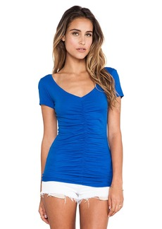 Velvet by Graham & Spencer Desire Gauzy Whisper Tee in Blue