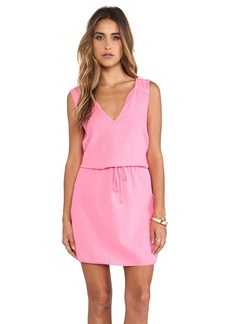Velvet by Graham & Spencer Dot Cotton Slub Dress in Pink