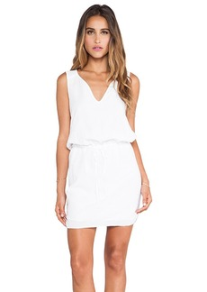 Velvet by Graham & Spencer Dot Cotton Slub Dress in White