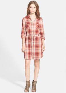 Velvet by Graham & Spencer Double Face Plaid Shirtdress
