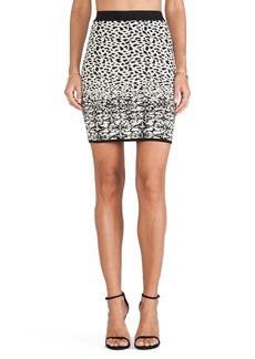 Velvet by Graham & Spencer Izella Snow Leopard Jacquard Skirt