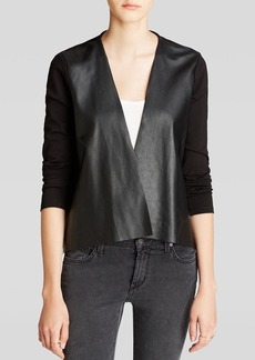 Velvet by Graham & Spencer Jacket - Ponte and Faux Leather