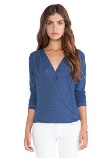 Velvet by Graham & Spencer Jeanne Soft Textured Knit Top in Blue