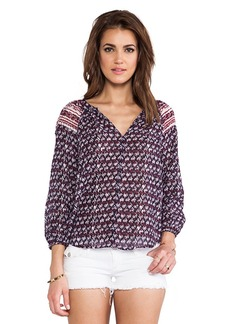 Velvet by Graham & Spencer Josilin Seville Gauze Top in Purple
