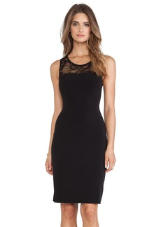 Velvet by Graham & Spencer Kito Stretch Jersey with Lace Dress